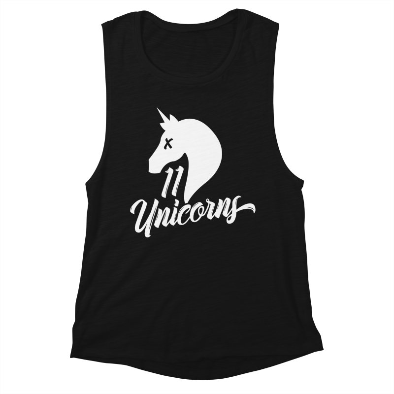 11 Unicorns Logo White Women's Tank by 11 Unicorns Shop