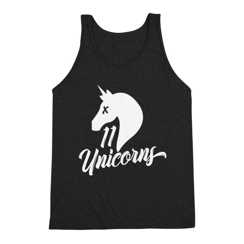 11 Unicorns Logo White Men's Tank by 11 Unicorns Shop