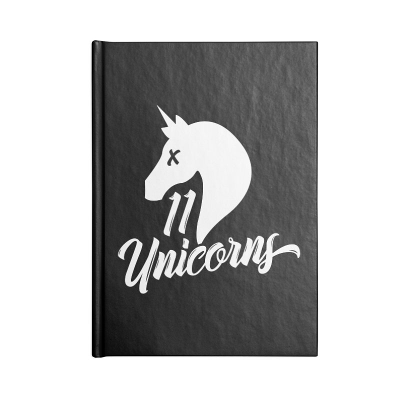 11 Unicorns Logo White Accessories Notebook by 11 Unicorns Shop