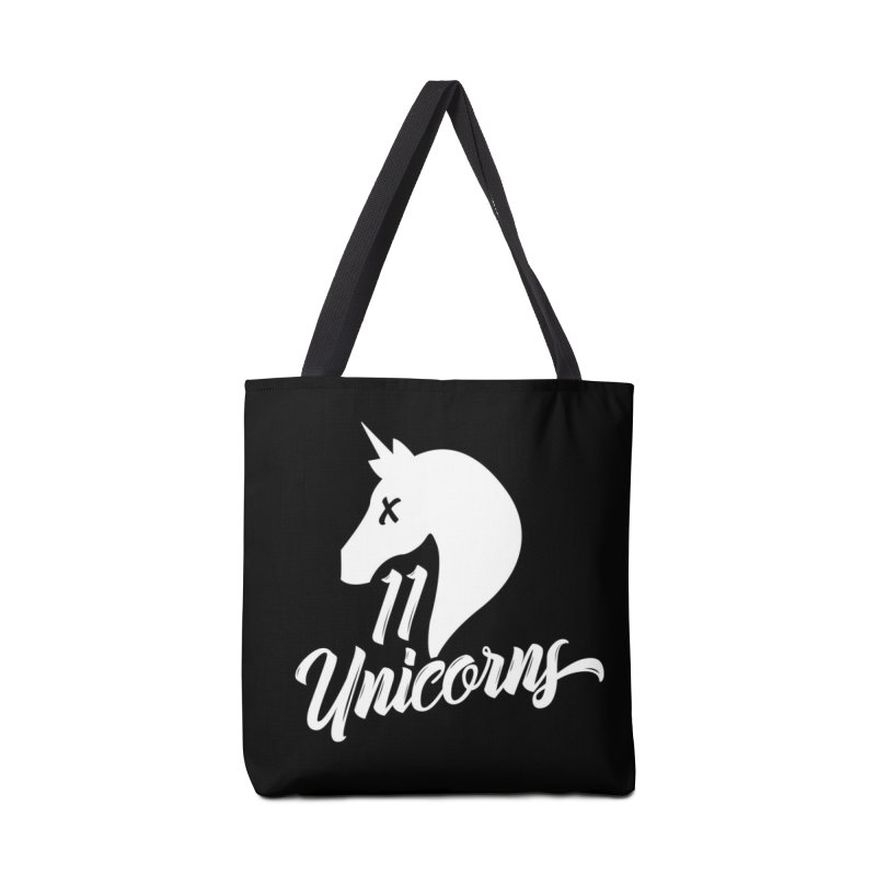11 Unicorns Logo White Accessories Bag by 11 Unicorns Shop