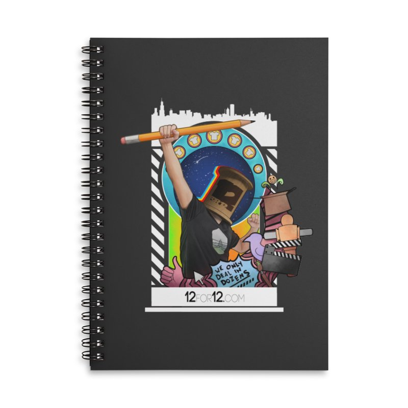 Episode 3 Accessories Lined Spiral Notebook by 12for12's Artist Shop