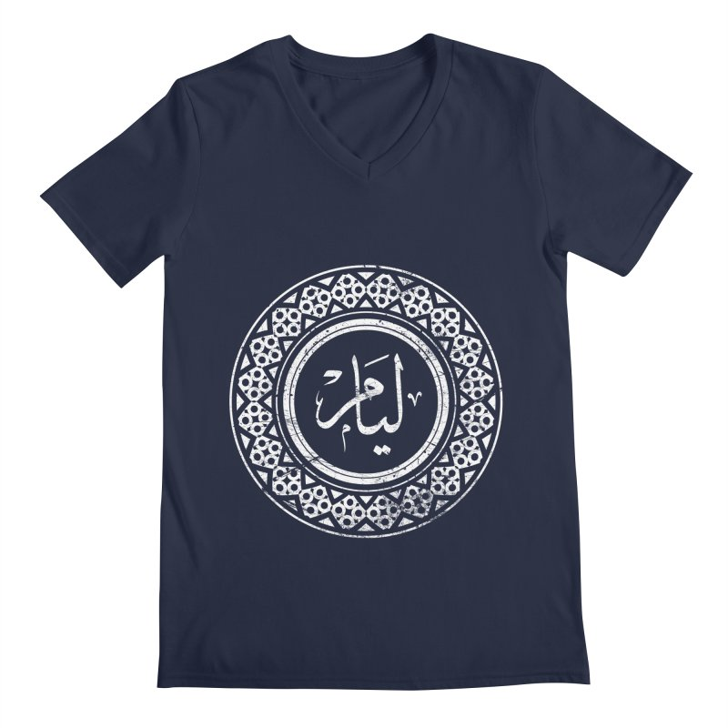 Liam - Name In Arabic Men's V-Neck by 1337designs's Artist Shop