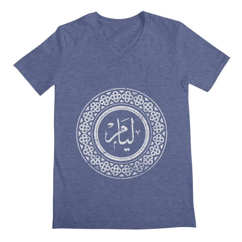Liam - Name In Arabic Men's V-Neck by 1337designs's Artist Shop