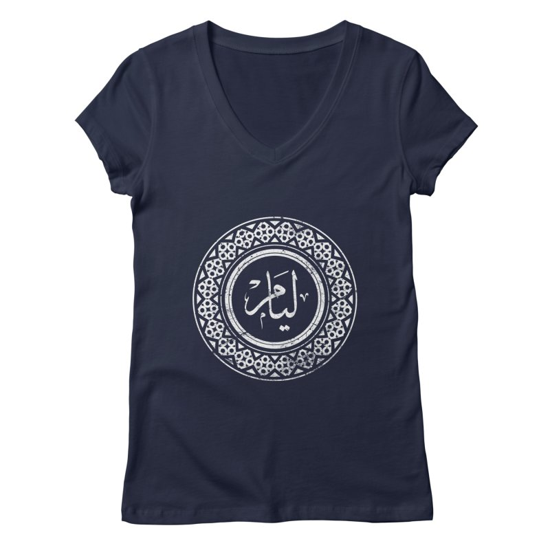 Liam - Name In Arabic Women's V-Neck by 1337designs's Artist Shop