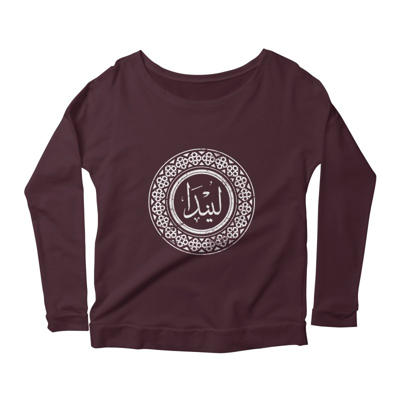 Linda - Name In Arabic Women's Longsleeve Scoopneck  by 1337designs's Artist Shop
