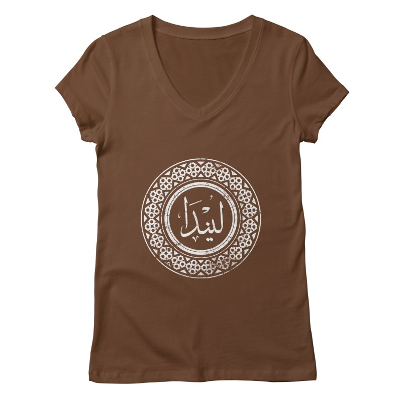 Linda - Name In Arabic Women's V-Neck by 1337designs's Artist Shop