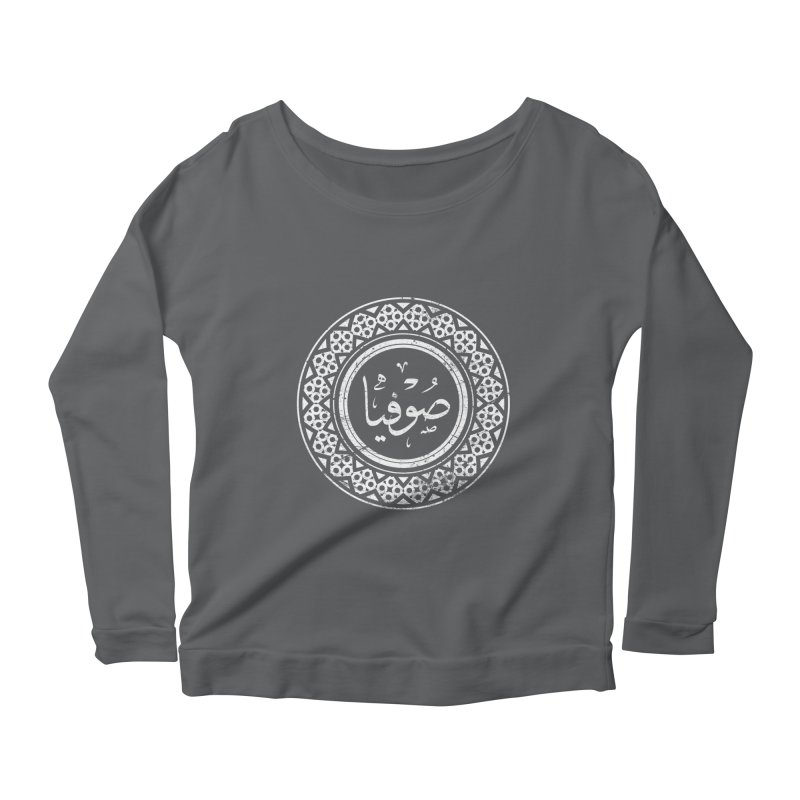 Sofia - Name In Arabic Women's Longsleeve Scoopneck  by 1337designs's Artist Shop