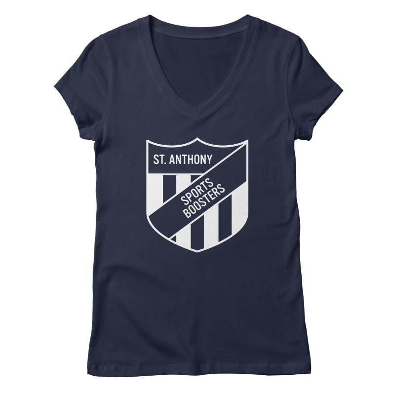 St.Anthony Sports Boosters Women's Regular V-Neck by 144design