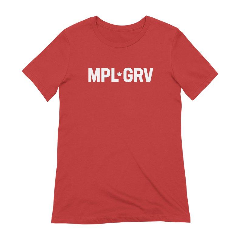 MAPLE GROVE (Horizontal White) Women's T-Shirt by 144design