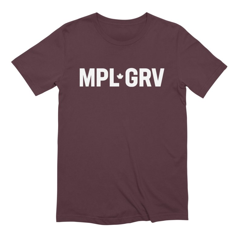 MAPLE GROVE (Horizontal White) Men's T-Shirt by 144design