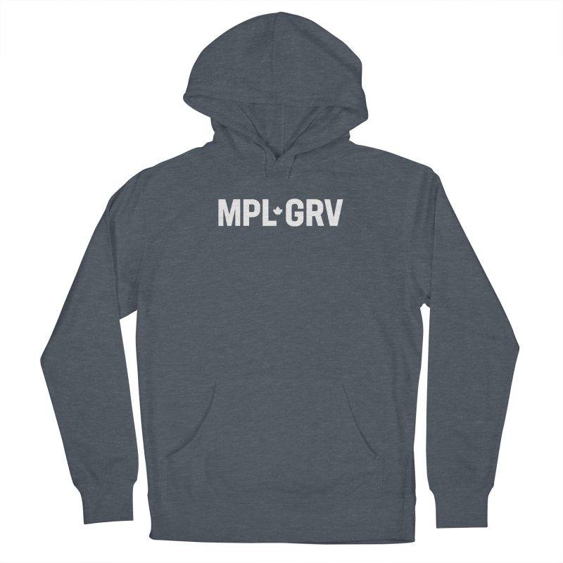 MAPLE GROVE (Horizontal White) Men's Pullover Hoody by 144design