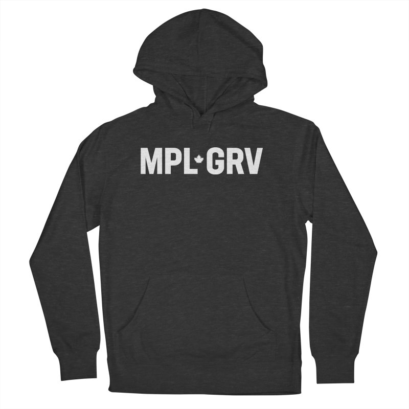 MAPLE GROVE (Horizontal White) Men's French Terry Pullover Hoody by 144design