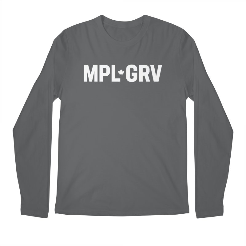 MAPLE GROVE (Horizontal White) Men's Longsleeve T-Shirt by 144design