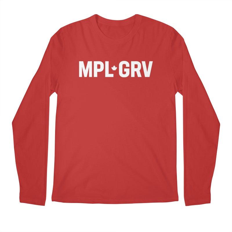 MAPLE GROVE (Horizontal White) Men's Regular Longsleeve T-Shirt by 144design