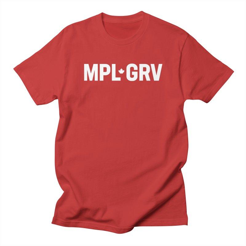 MAPLE GROVE (Horizontal White) Men's T-Shirt by 144design
