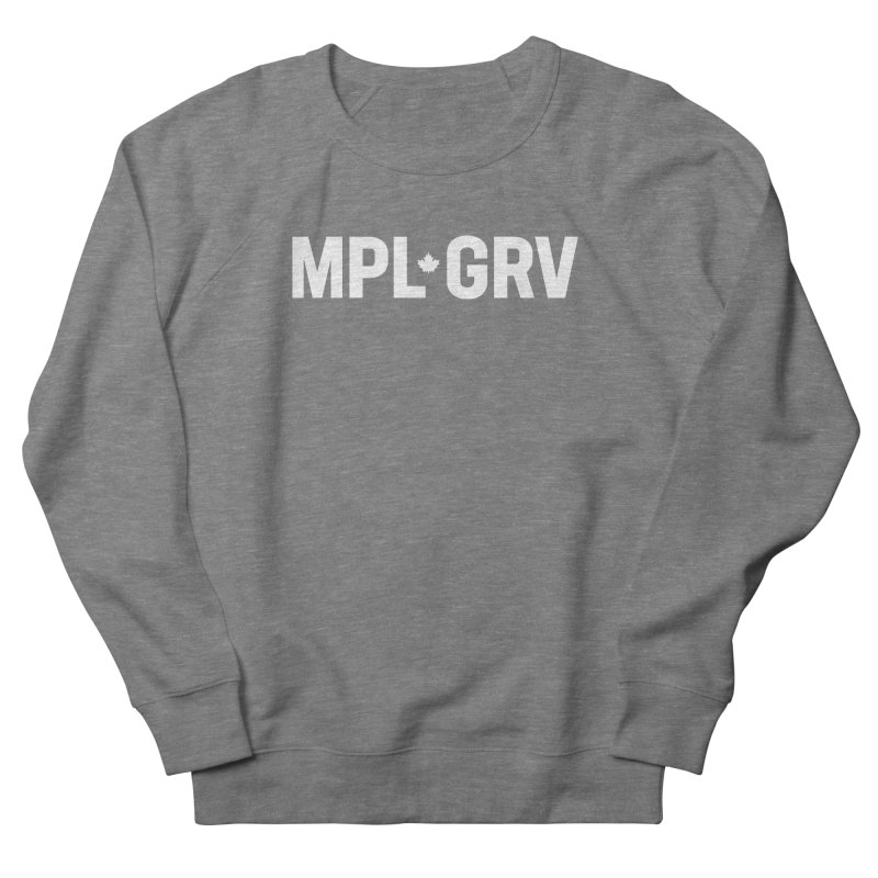 MAPLE GROVE (Horizontal White) Women's Sweatshirt by 144design
