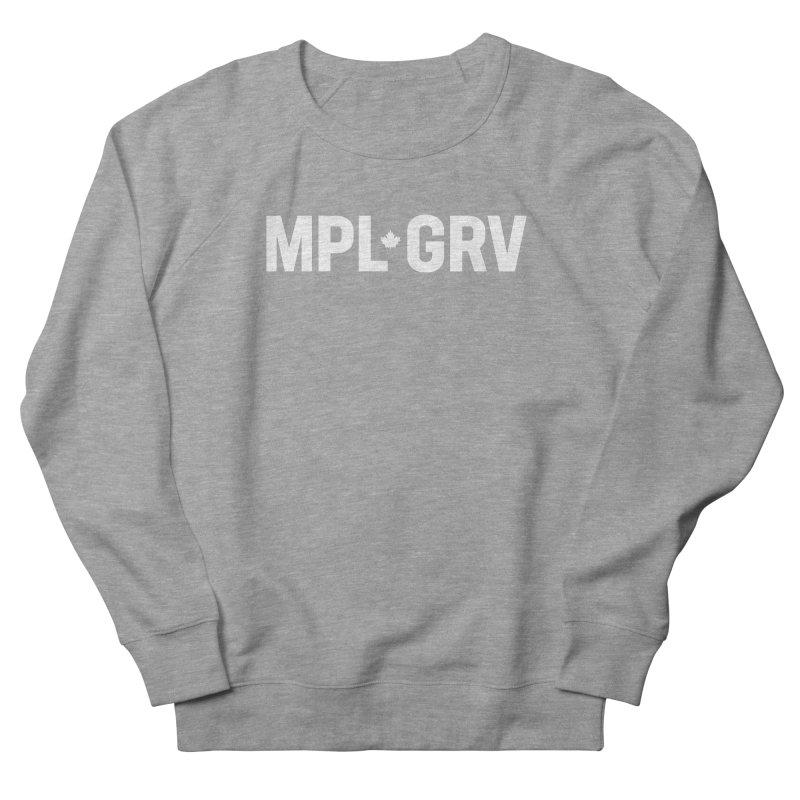MAPLE GROVE (Horizontal White) Women's French Terry Sweatshirt by 144design