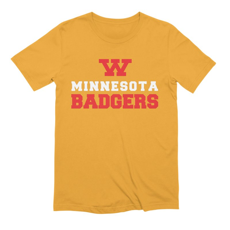 Minnesota Badgers in Men's Extra Soft T-Shirt Gold by 144design