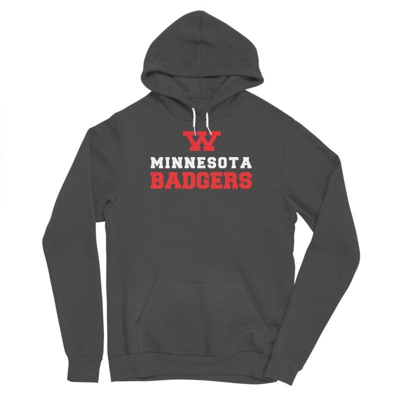 Minnesota Badgers Men's Sponge Fleece Pullover Hoody by 144design