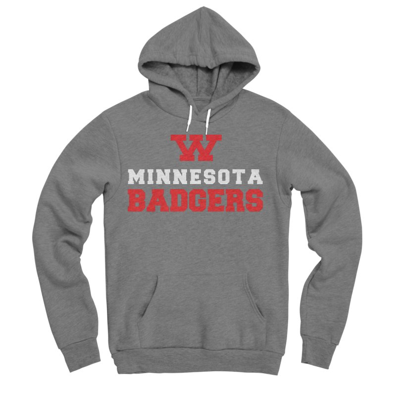 Minnesota Badgers in Women's Sponge Fleece Pullover Hoody Heather Graphite by 144design