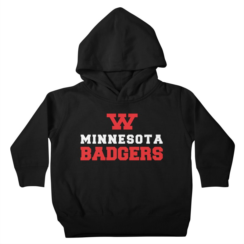 Minnesota Badgers Kids Toddler Pullover Hoody by 144design