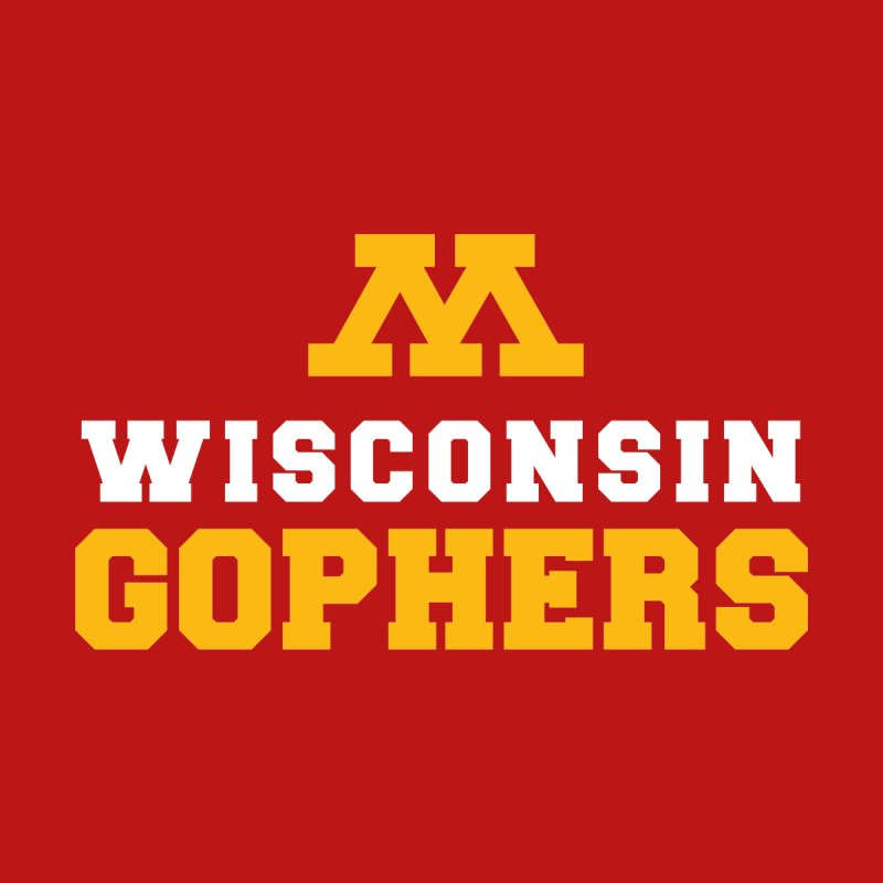 Wisconsin Gophers Men's Longsleeve T-Shirt by 144design