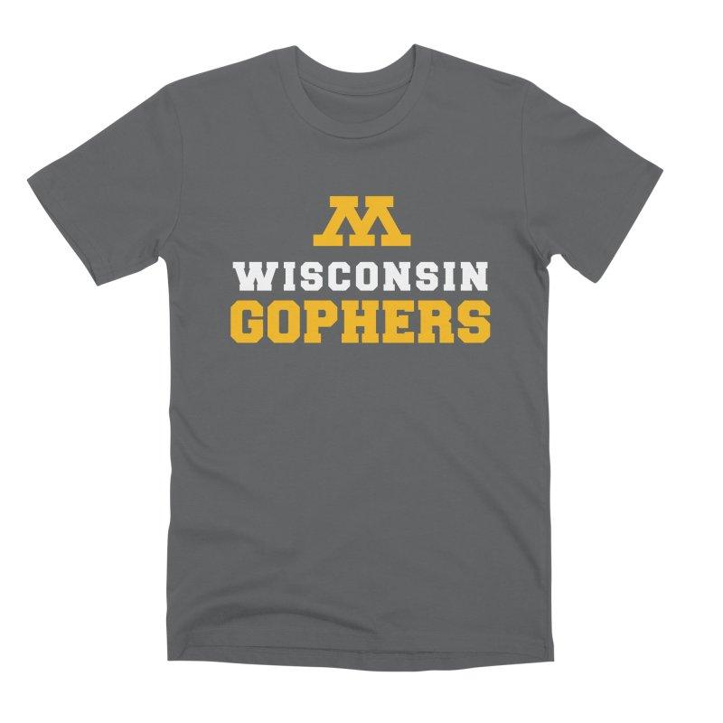 Wisconsin Gophers Men's T-Shirt by 144design