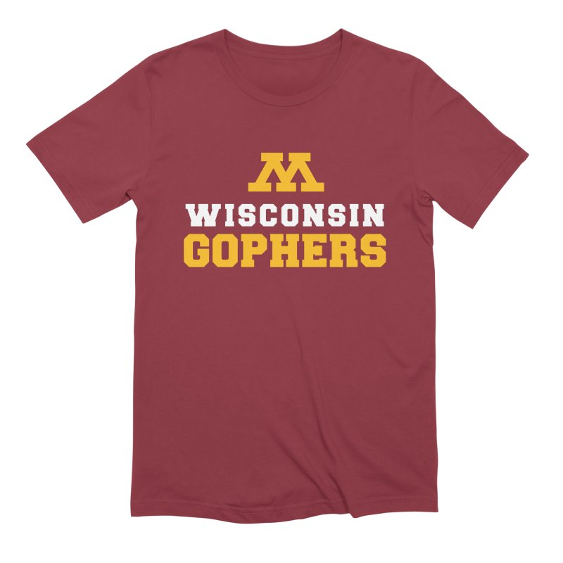 Wisconsin Gophers Men's Extra Soft T-Shirt by 144design