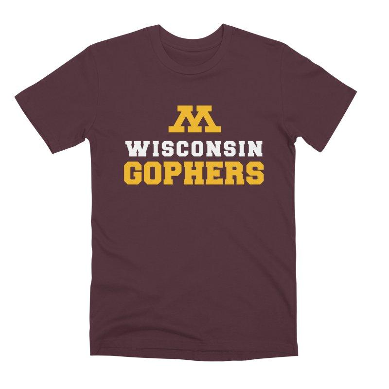 Wisconsin Gophers Men's Premium T-Shirt by 144design
