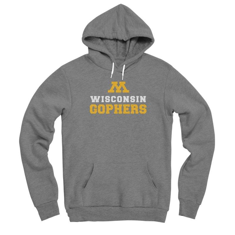 Wisconsin Gophers Men's Sponge Fleece Pullover Hoody by 144design