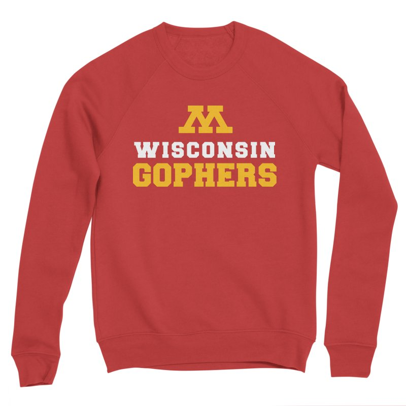 Wisconsin Gophers Men's Sponge Fleece Sweatshirt by 144design