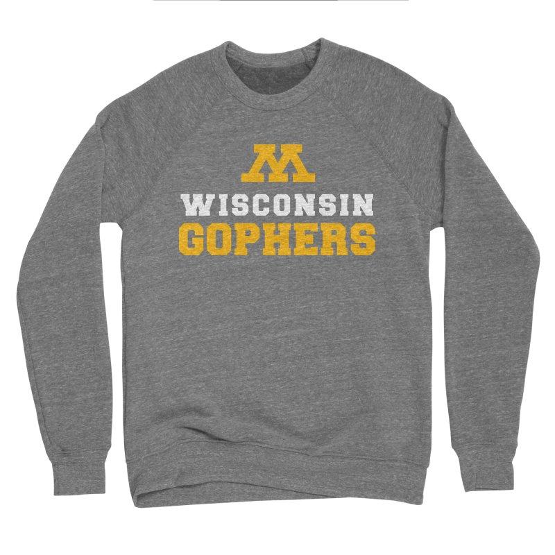 Wisconsin Gophers Men's Sponge Fleece Sweatshirt by 144design