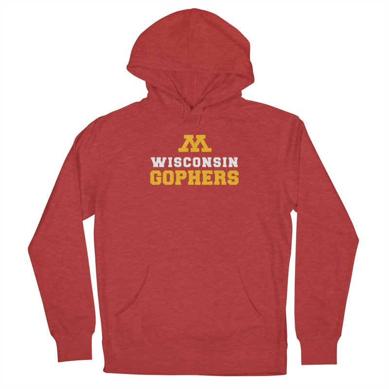Wisconsin Gophers Men's Pullover Hoody by 144design