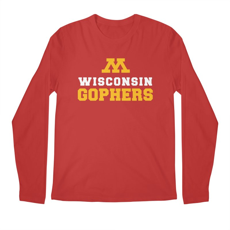 Wisconsin Gophers in Men's Regular Longsleeve T-Shirt Red by 144design