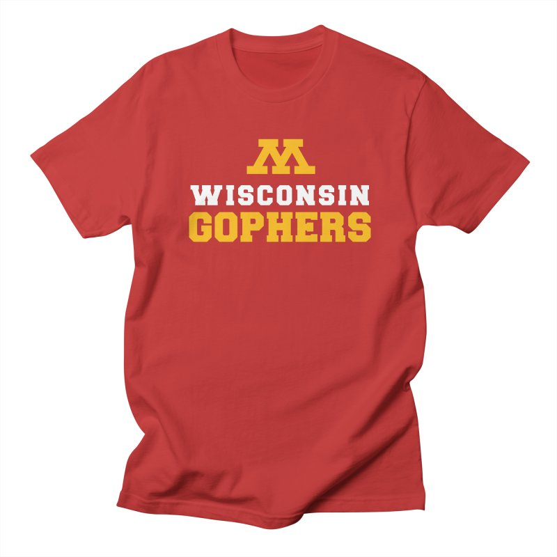 Wisconsin Gophers Men's Regular T-Shirt by 144design