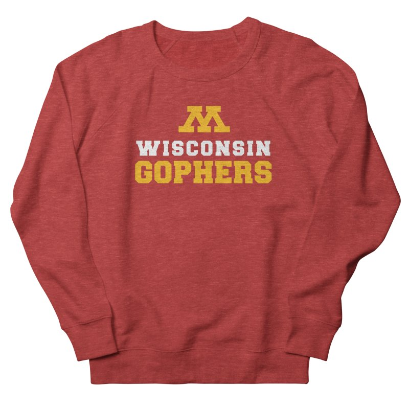 Wisconsin Gophers in Women's French Terry Sweatshirt Heather Red by 144design