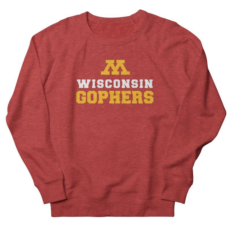 Wisconsin Gophers Men's French Terry Sweatshirt by 144design