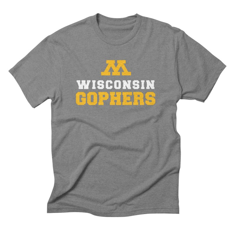 Wisconsin Gophers Men's Triblend T-Shirt by 144design