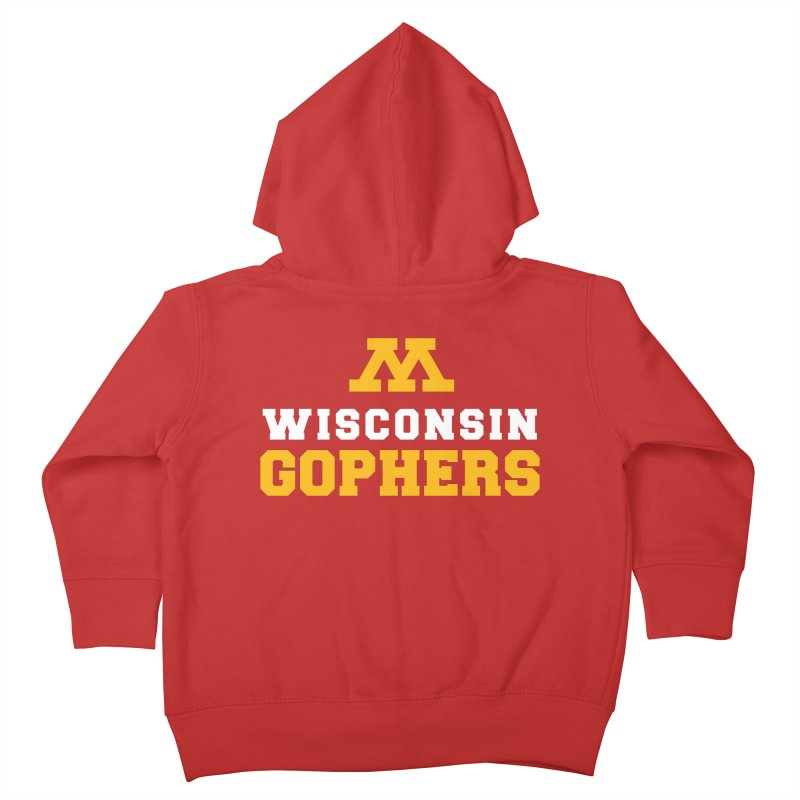 Wisconsin Gophers Kids Toddler Zip-Up Hoody by 144design