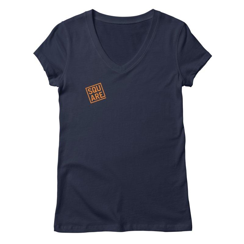 SQUARE Women's Regular V-Neck by 144design