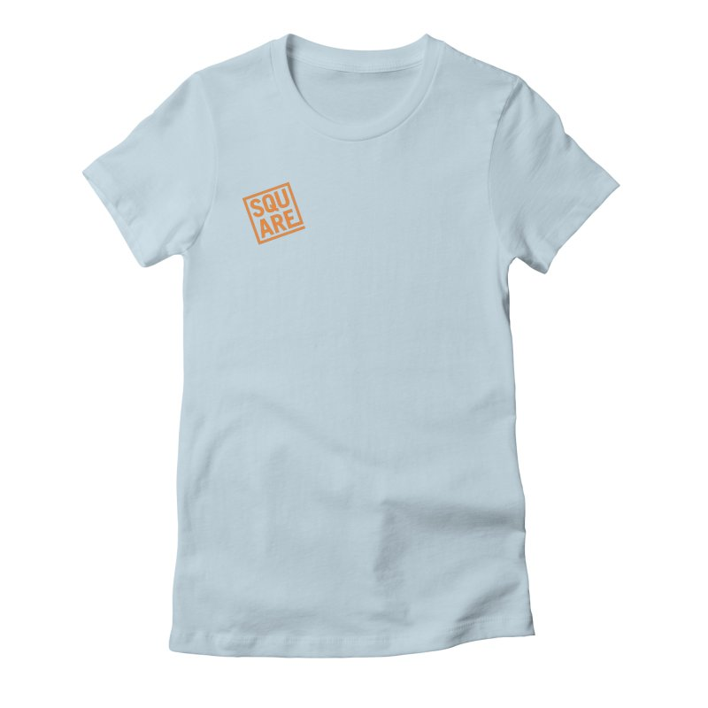 SQUARE Women's Fitted T-Shirt by 144design