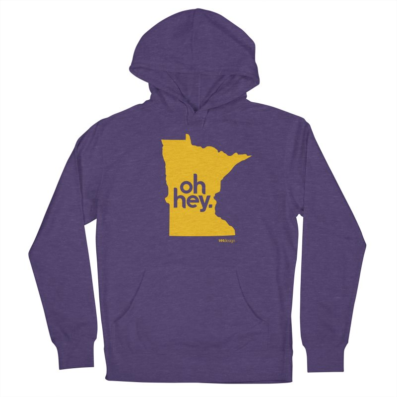 Oh Hey : Minnesota in Women's French Terry Pullover Hoody Heather Purple by 144design