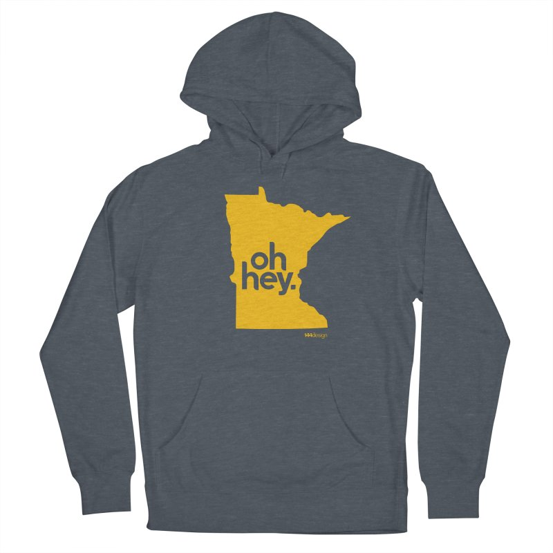 Oh Hey : Minnesota Men's French Terry Pullover Hoody by 144design