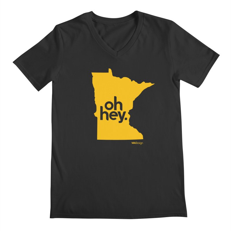 Oh Hey : Minnesota Men's V-Neck by 144design