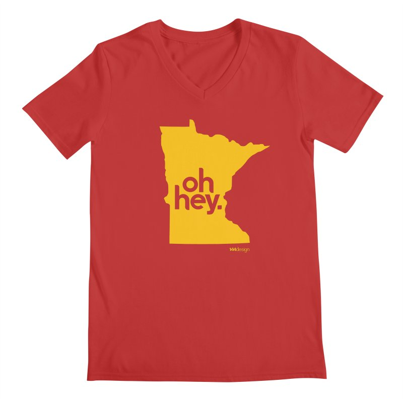 Oh Hey : Minnesota Men's Regular V-Neck by 144design