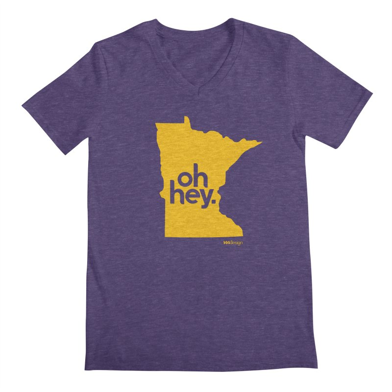 Oh Hey : Minnesota Men's Regular V-Neck by 144design