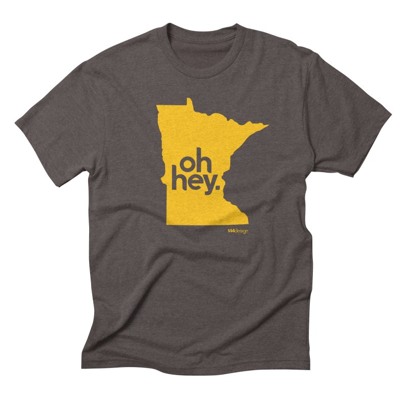 Oh Hey : Minnesota Men's Triblend T-shirt by 144design