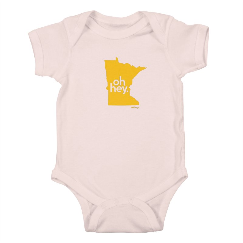 Oh Hey : Minnesota Kids Baby Bodysuit by 144design