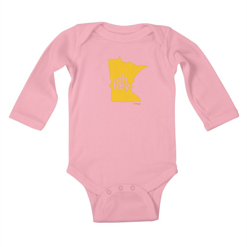 Oh Hey : Minnesota Kids Baby Longsleeve Bodysuit by 144design