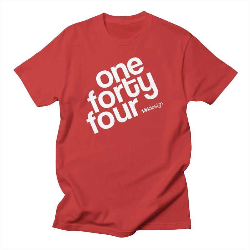 onefortyfour-white Men's T-Shirt by 144design